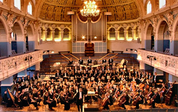 Orchestra in concert