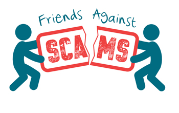 The Friends Against Scams logo