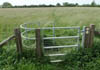 Kissing gate on the Oxfordshire Way
