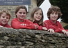 Combe Primary School children
