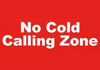 No cold calling zone sign