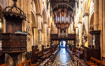The nave of Christ Church cathedral.