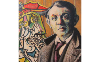 A painting of Pablo Picasso