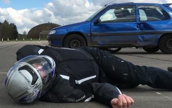 an injured motorcyclist