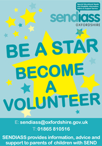 Poster advertising for volunteers