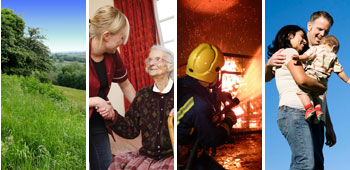 Examples of services we provide: countryside, social care, fire and rescue and family services