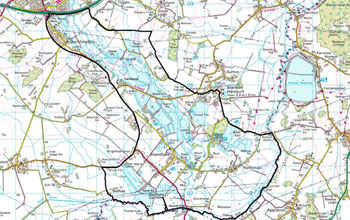 Map of the Lower Windrush Valley