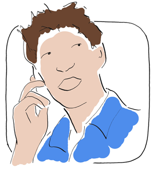 A man on the phone