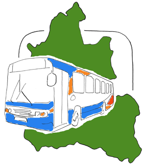 a stagecoach bus and a map of Oxfordshire