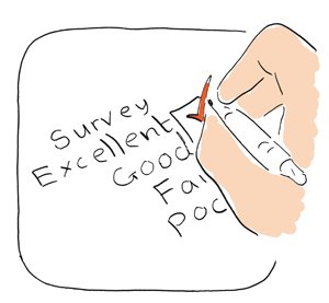 filling in a survey