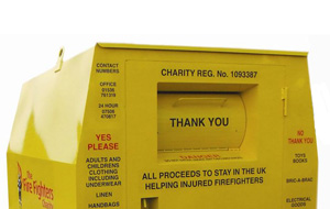 Fire fighters charity clothing bank
