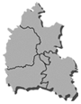 Oxfordshire map showing district boundaries