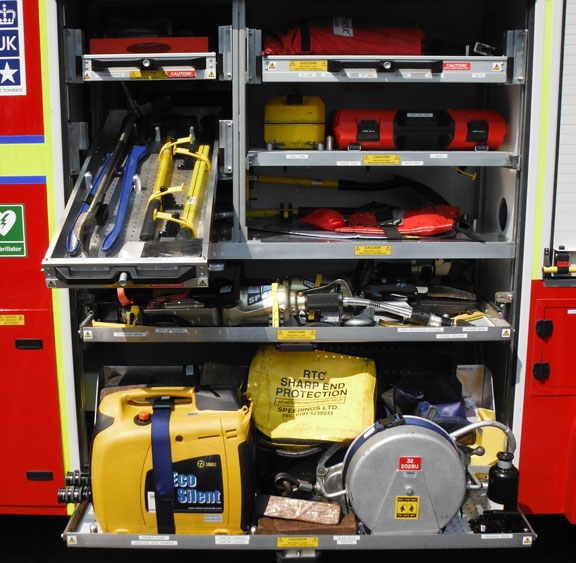 Equipment on board the new fire engine