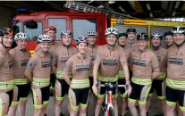 Oxfordshire's fundraising firefighters have revealed the special kit they have had made for their thousand mile sponsored cycle ride – just one month before they set off on their epic journey from John O'Groats to Land's End.