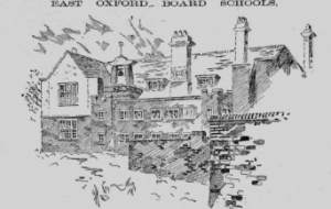 Sketch of East Oxford Board Schools from Jackson's Oxford Journal