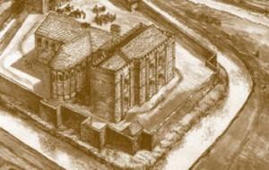 Bishop's Palace drawing