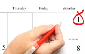 calendar with date circled in red pen