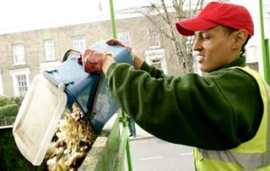 food recycling worker