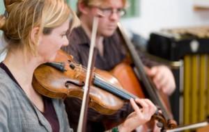 Adult violinist