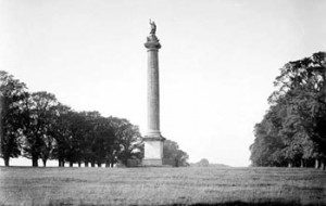 Marlborough monument at Blenheim Palace - taken by Henry Taunt
