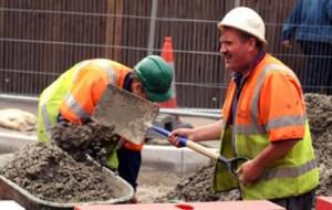 Excavating road