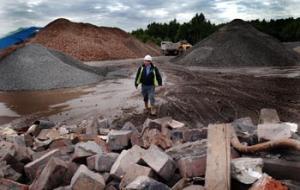 Builders' rubble