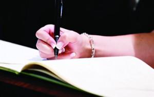 Signing a register