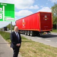 Cllr Hudspeth on the A40