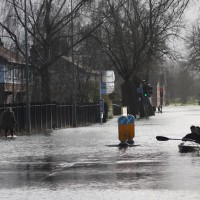 Flooding on Abingdon Road (photo by Paul Langcaster)
