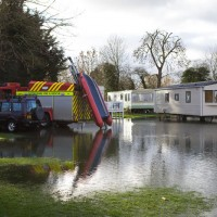 Boat rescue Bablock Hythe Caravan Park near Northmoor- photo by Mark Bassett