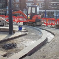 New granite kerbs off Oxford Station.