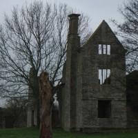 Manor house ruins at Hampton Gay