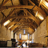 The magnificent interior of the barn.
