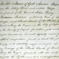 Resignation deed of John Henry Newman, 1843.