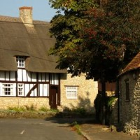 Black and white timbered cottage in South Hinksey