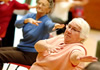 Elderly women excersising